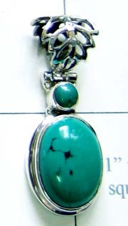 Turquoise small Pendant-ss4p105