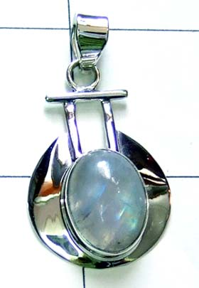 Sterling Silver cabochon Pendant-ss4p122