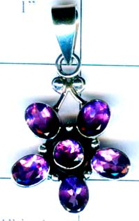 Sterling silver gems Pendant-ss4p187