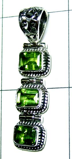 Color gemstone Silver Pendant-ss4p205