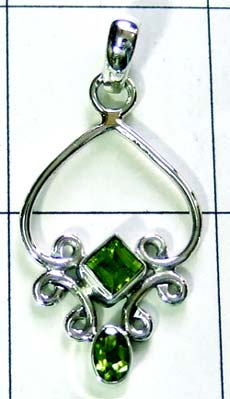 Sterling silver gems Pendant-ss4p218