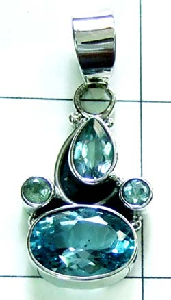 Beautiful blue topaz Pendant-ss4p277