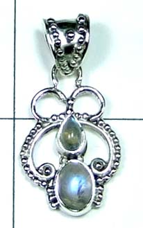 Color gemstone Silver Pendant-ss4p302