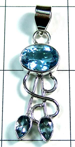 Silver Color gemstone Pendant-ss4p361