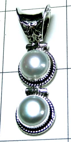 Silver Color gemstone Pendant-ss4p363