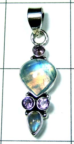 Silver Color gemstone Pendant-ss4p366