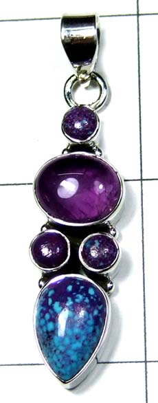 Silver Color gemstone Pendant-ss4p367