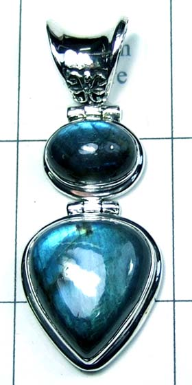 Silver Color gemstone Pendant-ss4p370