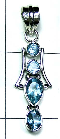 Color gems Pendant-ss4p393