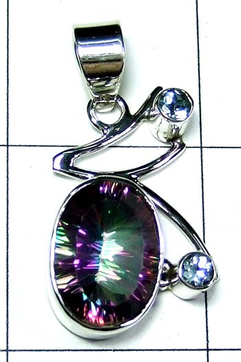 Color gems Pendant-ss4p396