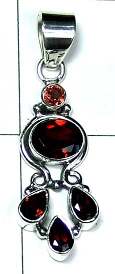 Color gems Pendant-ss4p397