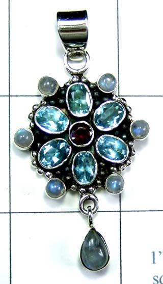 Wholesale Sterling silver Pendant-ss4p473