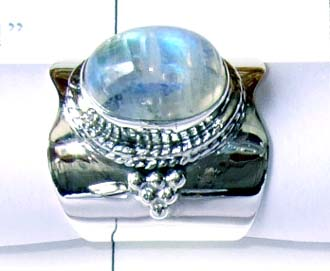 Rainbow Moonstone Ring-ss4r022