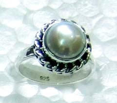 Oxodized silver gems Ring-ss4r044