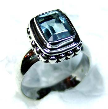 Beautiful silver gems Ring-ss4r143
