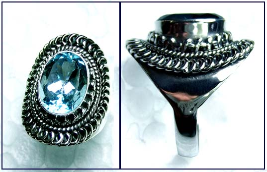 Beautiful silver gems Ring-ss4r157