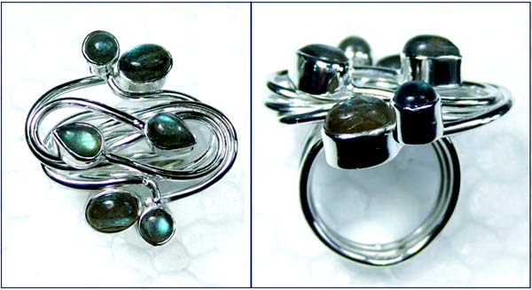Beautiful silver gems Ring-ss4r160