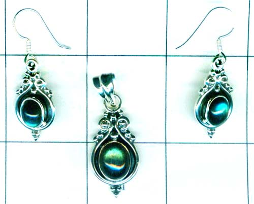 Wholesale silver gems set-ss4set028