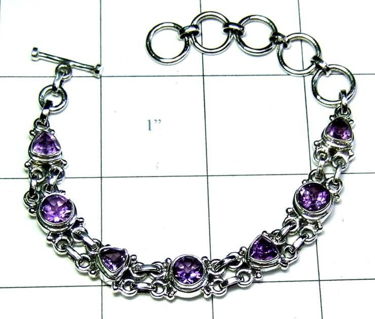 Faceted gems Bracelet-ss5b022