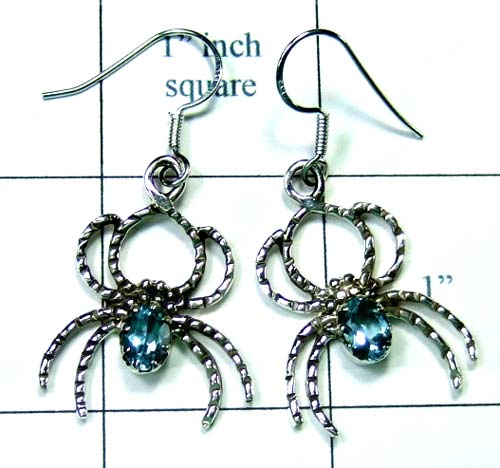 Sterling silver Spider Earring-ss5e001