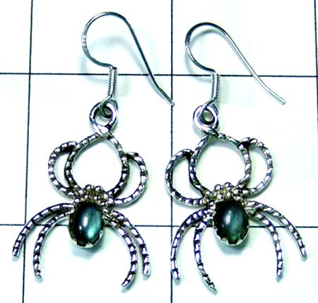 Sterling silver Spider Earring-ss5e002