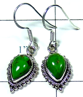 Silver Mohave green Turquoise Earring-ss5e087