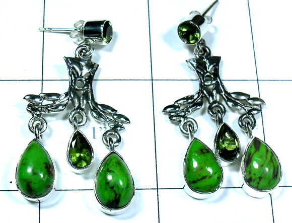 Evergreen combination silver Earring-ss5e088