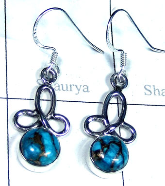 Silver Blue copper Turquoise Earring-ss5e154