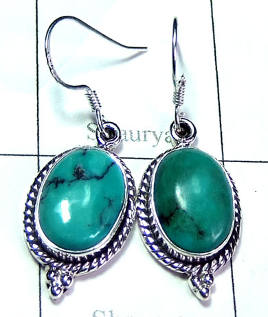 Sterling silver Turquoise Earring-ss5e158