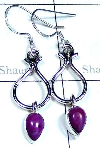 Silver Purple Turquoise Earring-ss5e165