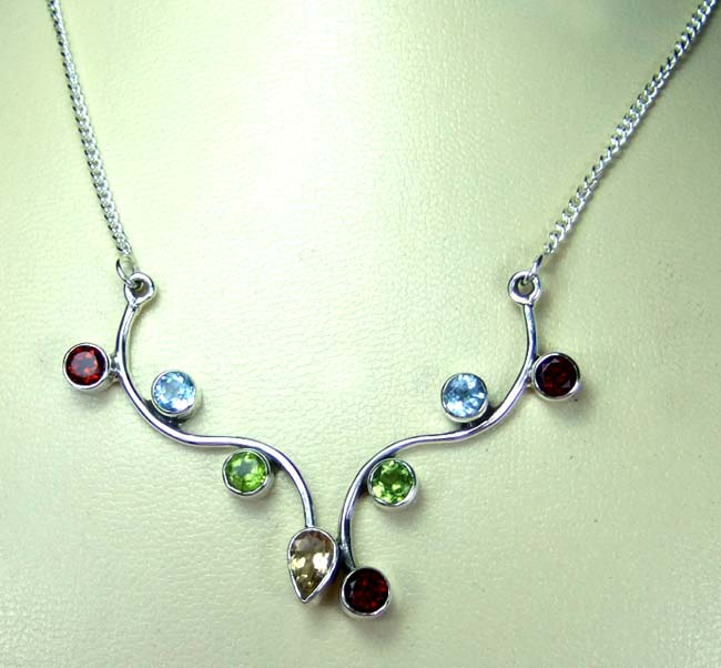 Sterling silver Necklace-ss5n003