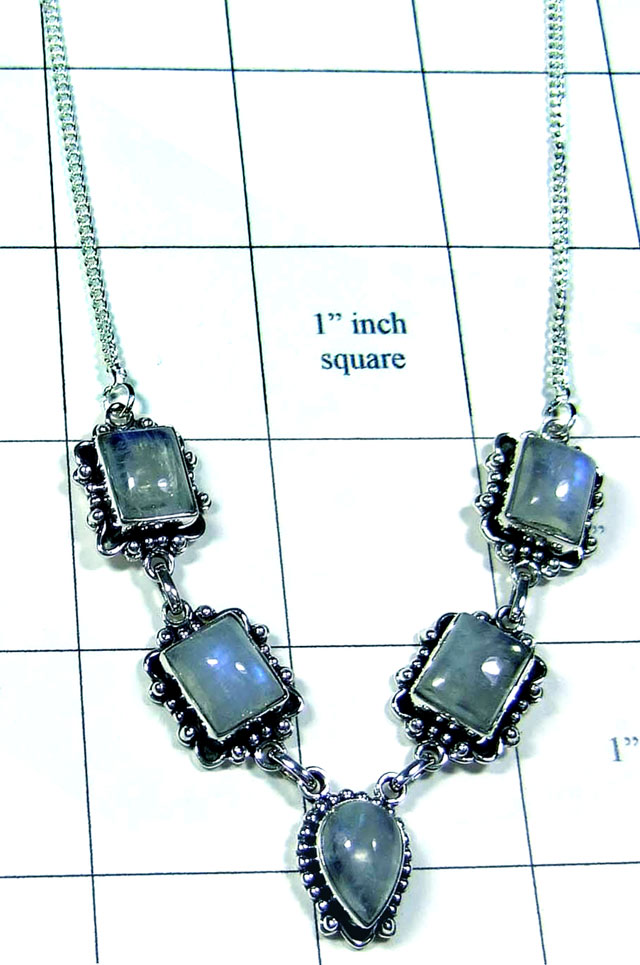 Wholesale silver gems Necklace-ss5n022