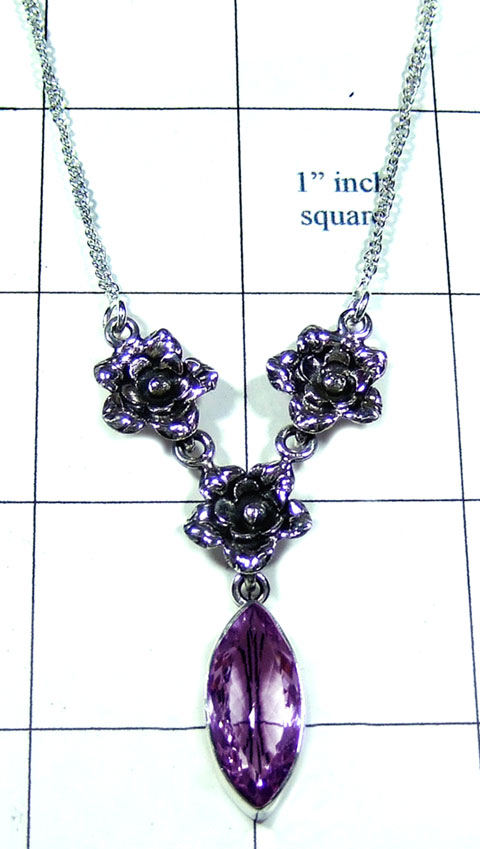 Amethyst gems Necklace-ss5n027