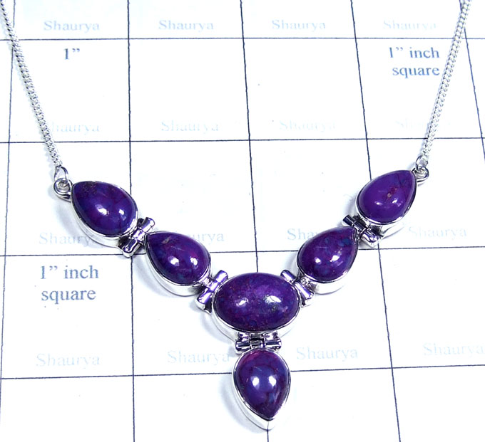 Purple Turquoise Necklace-ss5n033
