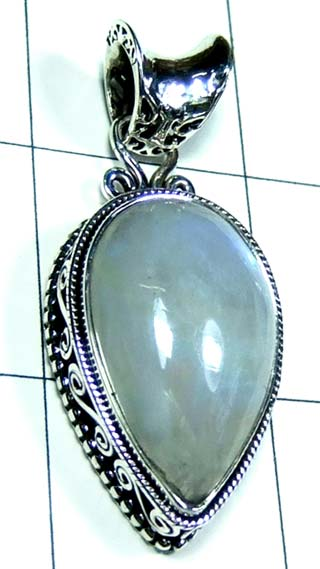 Sterling silver Rainbow moonstone Pendant-ss5p125