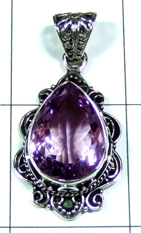 Sterling silver gems Pendant-ss5p133