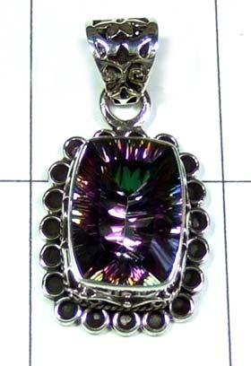 Sterling silver gems Pendant-ss5p134