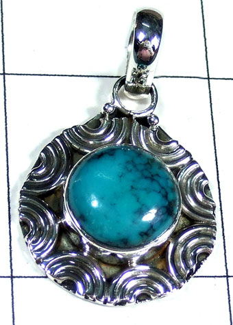 Silver Turquoise Pendant-ss5p168