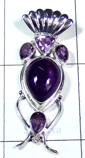 Wholesale silver Amethyst Pendant-ss5p306