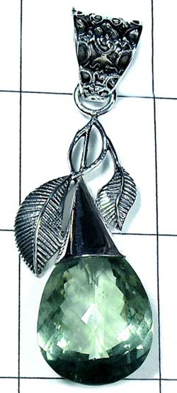 Beautiful Green Drop Pendant-ss5p320