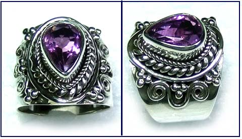 Wholesale silver gemstone Rings-ss5r028