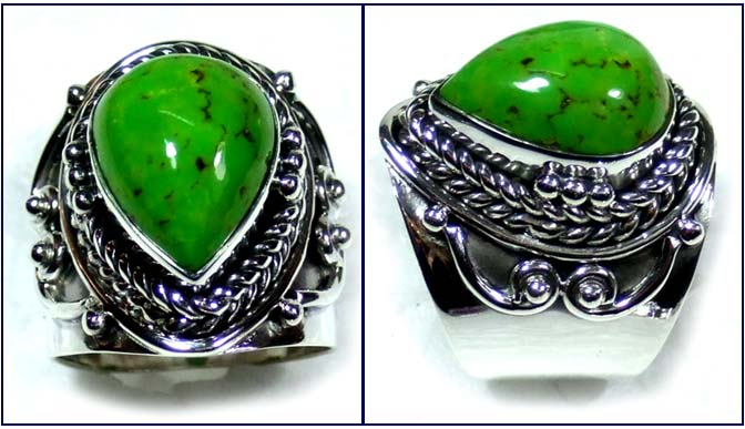Mohave green Turquoise Ring-ss5r078