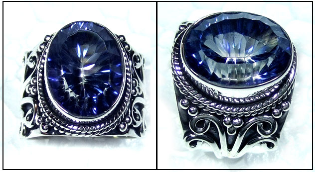 Blue Mystic silver Ring-ss5r102