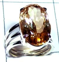 Silver Citrine Ring-ss5r104
