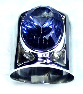 Blue Mystic silver Ring-ss5r117