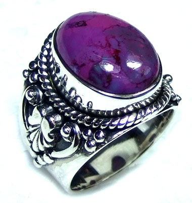 Purple Turquoise silver gems Ring-ss5r132