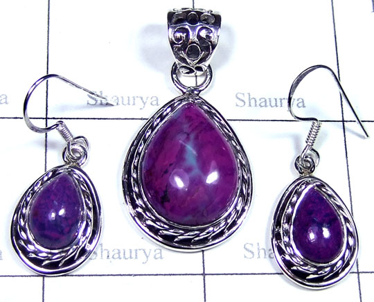 Sterling silver Purple Turquoise Set-ss5set013