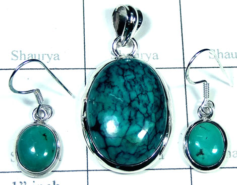 Sterling silver Turquoise gemstone Set-ss5set021