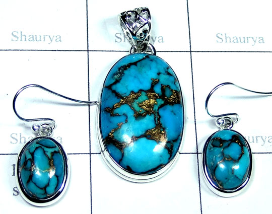 Beautiful Blue copper Turquoise Set-ss5set023