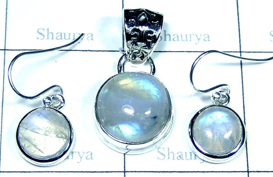 Sterling silver Rainbow Moonstone Set-ss5set024